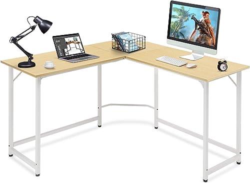 Comhoma L Shaped Desk 50.39″ Computer Corner Desk,Home Gaming Desk