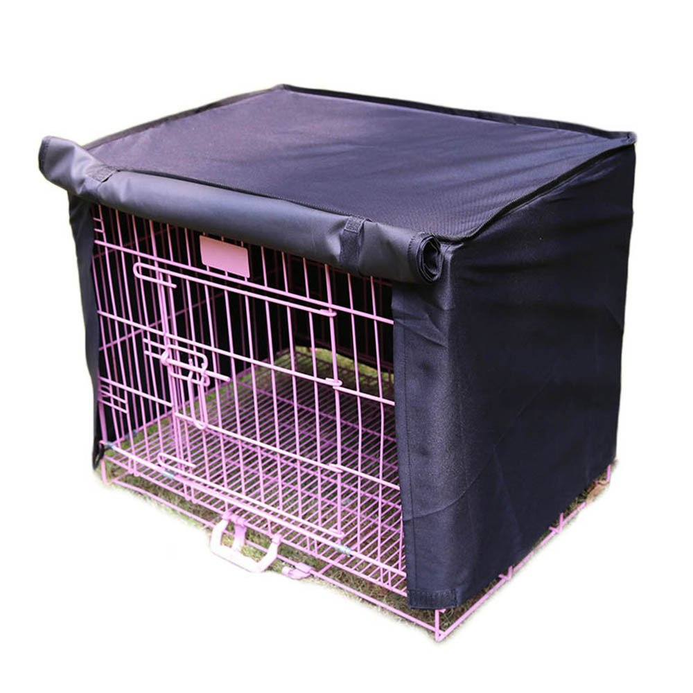 Pet Crate Kennel Cover, Indoor/Outdoor Polyester Windproof and Waterproof Dog Cat House Cage Cover (XL, Black)