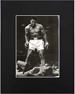 Muhammad Ali Boxing Sonny Liston Knock Out Boxing Art Print Printed Picture Decor Wall Art Display with Matted 8x10