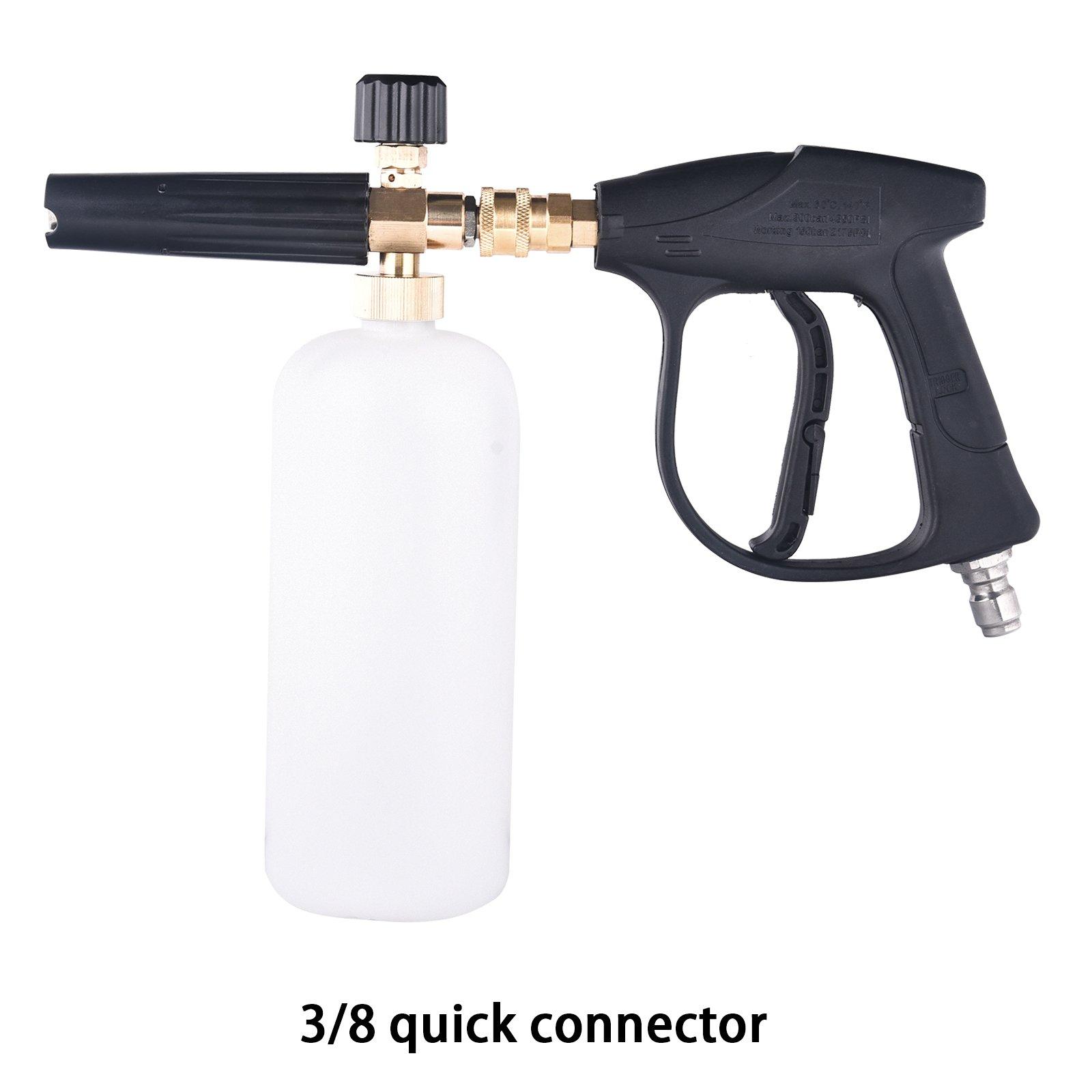 Car-Styling Foam Gun Car Wash Pressure Washer Jet Wash Quick Release Adjustable Snow Foam Lance Foam Cannon Tools (3/8 Quick Release)