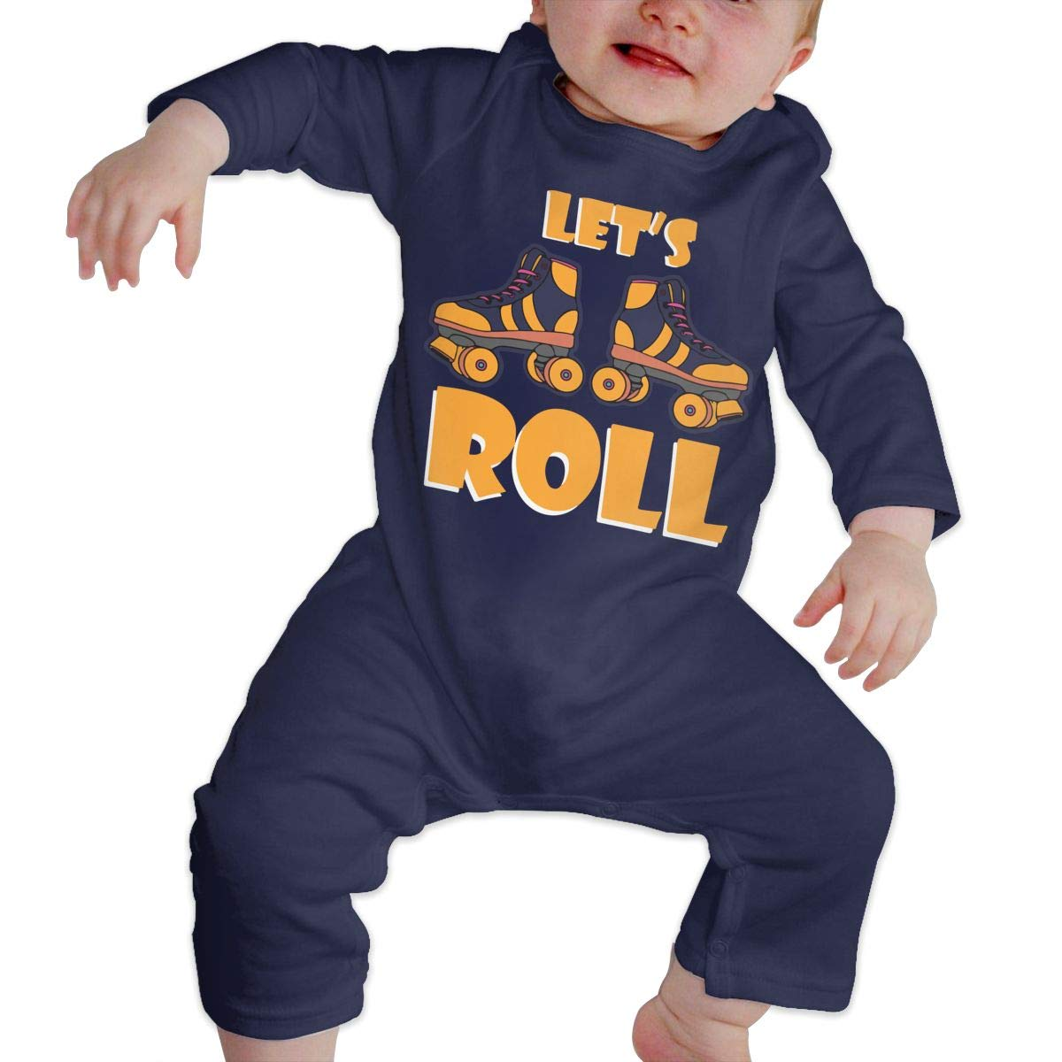 LBJQ8 Roller Skating Baby Infant Girls Organic Cotton Coveralls Jumpsuits