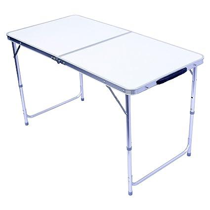 Faltbarer Campingtisch.Goods Gadgets Klapptisch Campingtisch Klappbarer Bestelltisch Faltbarer Tisch Falttisch Gartentisch 120x60cm