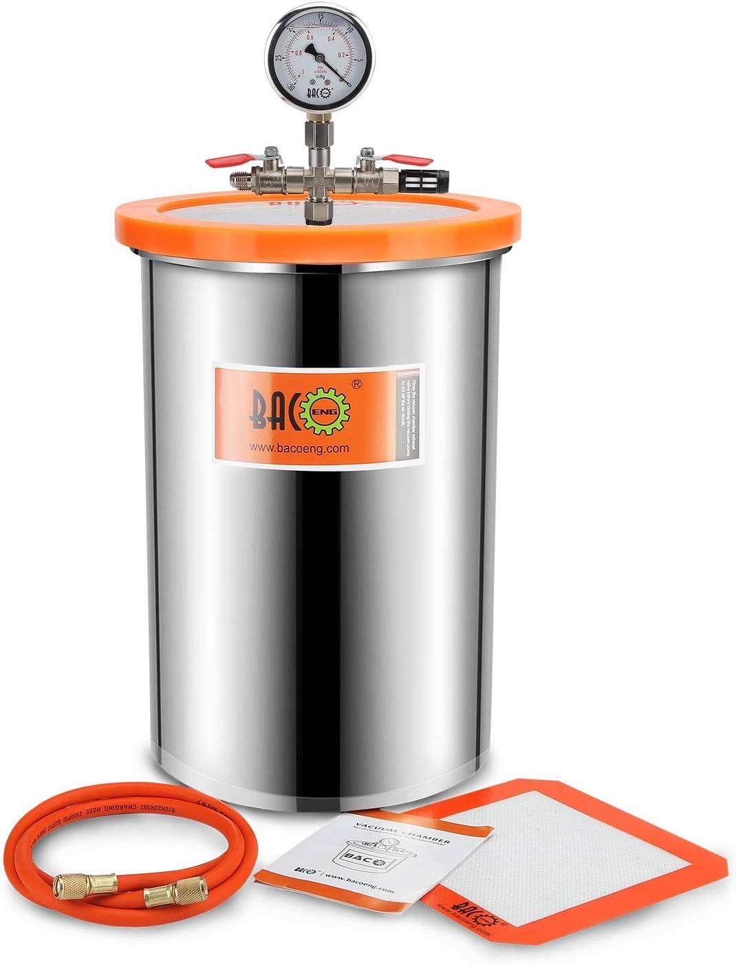 compatibilit/é avec les prises fran/çaises non-garantie ou 19/litres 12 Pompe /à vide mono-/étag/ée 3 CFM avec connecteur UK /à 3 broches Kit chambre /à vide 6,8 BACOENG