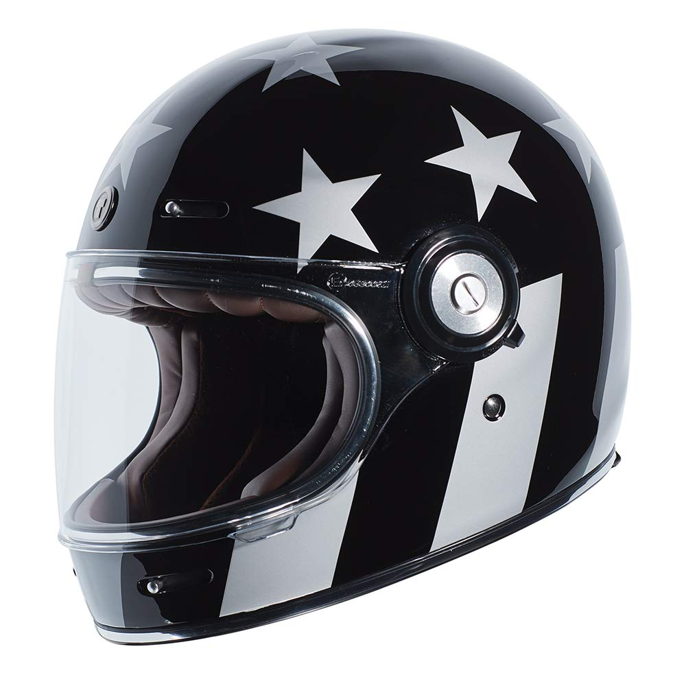 TORC Unisex-Adult Full-face-Helmet-Style Motorcycle (Captain Vegas Gloss Black Small