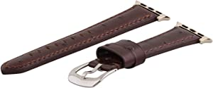 Clockwork Synergy - Gentlemen's Collection Leather Watch Bands for Apple Watch (38mm Brown Ostrich)