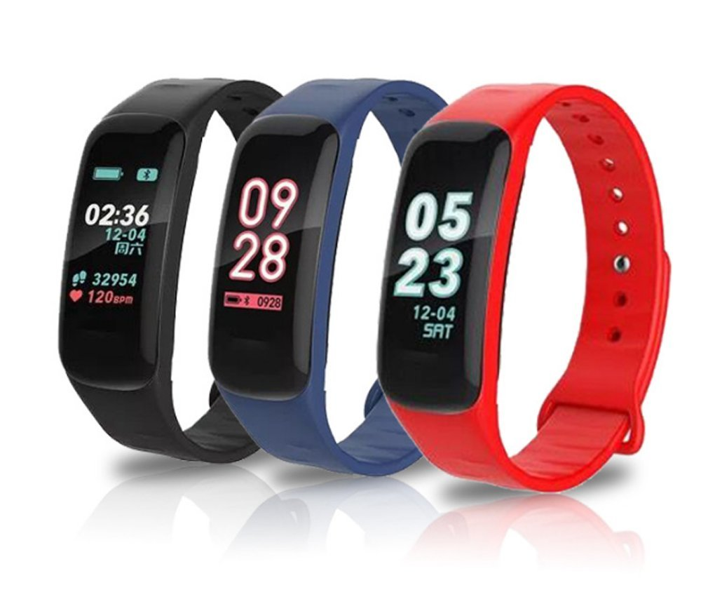 WFDRD Fitness tracker,C1P Heart Rate Monitor, Smart Bracelet, Health Tracker Activity Fitness Wristband Pedometer,Sport Tracker-for Running,Walking,Sleeping for Android and iOS (blue)