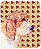 Caroline's Treasures Mouse/Hot Pad/Trivet, Petit Basset Griffon Vendeen Fall Leaves Portrait (LH9127MP)