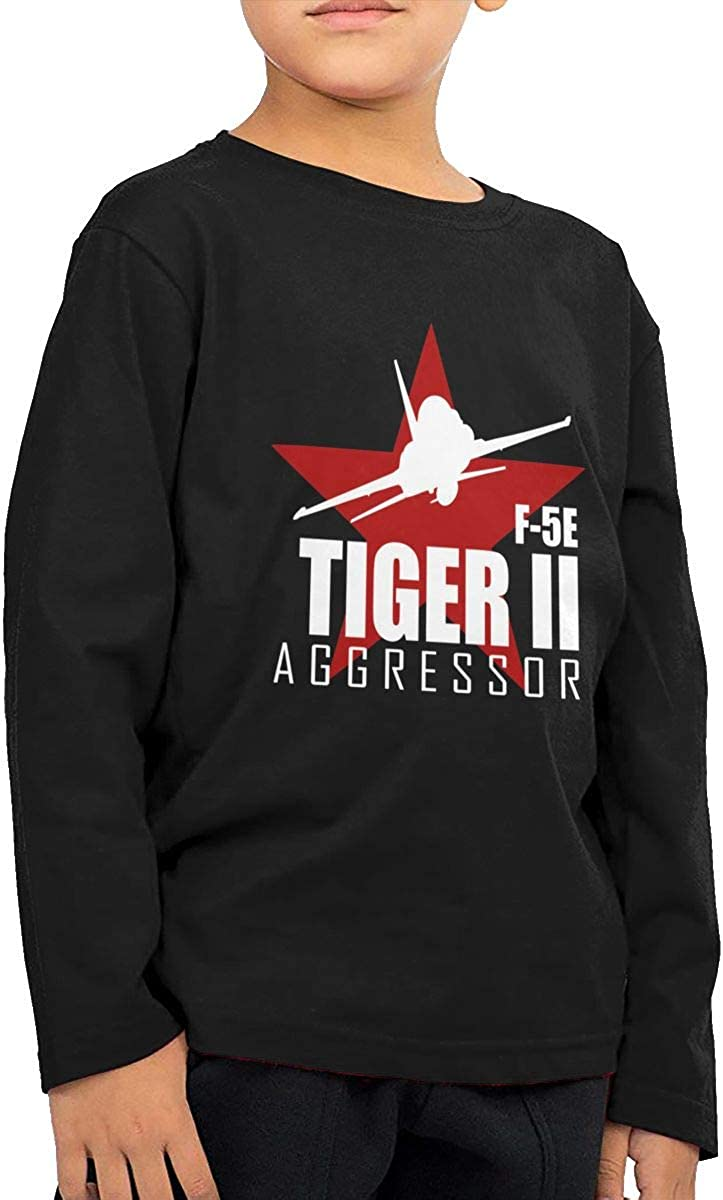 Air Force Aggressor Childrens Long Sleeve T-Shirt Boys Cotton Tee Tops