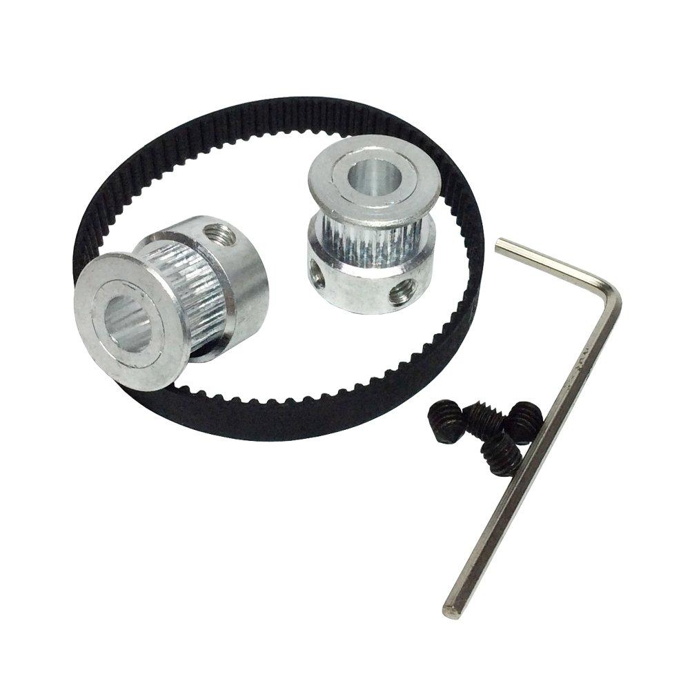 Bemonoc Gt2 Pulleys 20 Teeth 635mm Bore 2pcs 180 2gt 6 Timing Pulley 40 10mm Belt 6mm 90 For 3d Printer Industrial Scientific