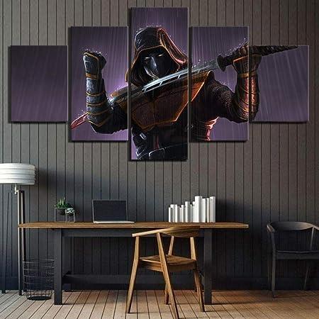 WEPAINT 5 Unidades HD Digital Art Picture Ninja Poster ...