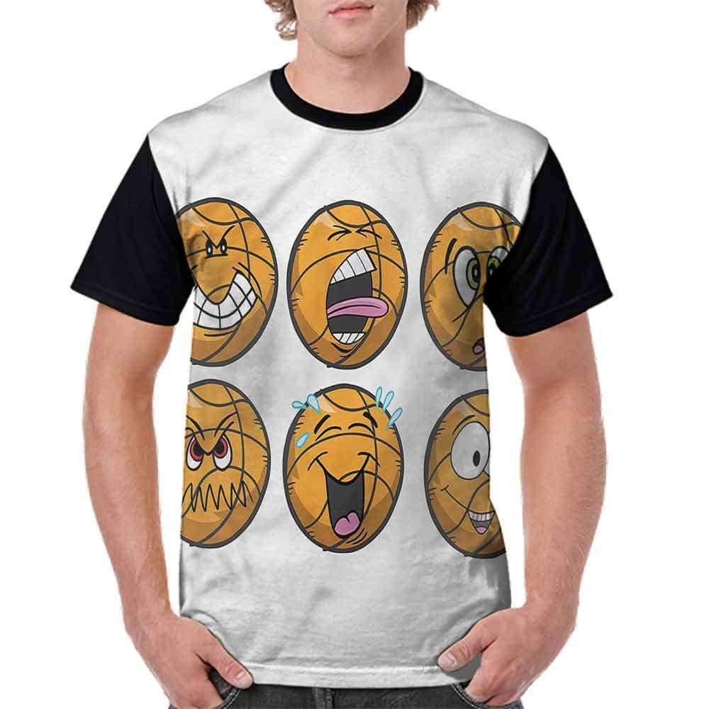 Printed T-Shirt,Cartoon Ball Faces Emotions Fashion Personality Customization