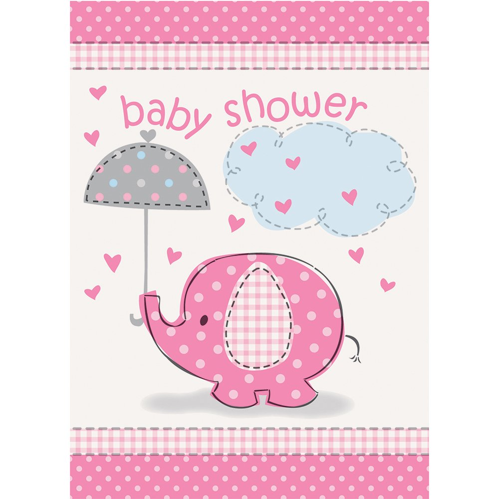 Amazon Pink Elephant Girl Baby Shower Invitations 8ct – Elephant Party Invitations
