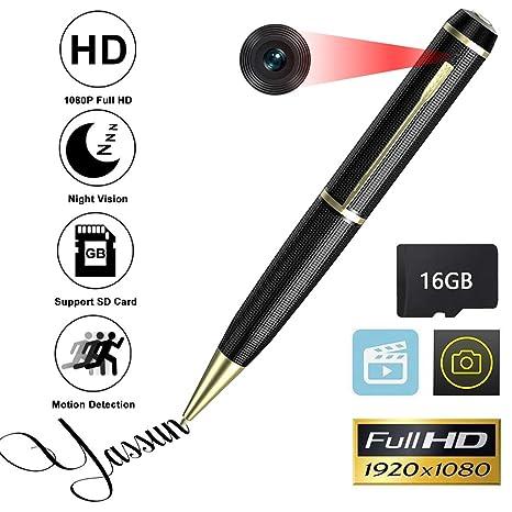 Amazon Yassun Spy Pen Camera 16gb 1080p Full Hd Mini Hidden
