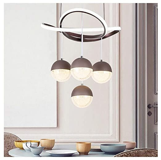 H.L Lámpara de Techo con Cuatro Luces LED para Mesa de ...