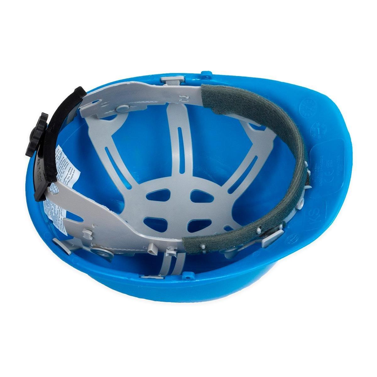 5 Bauhelm blau Schutzhelm Helm Arbeitsschutzhelm