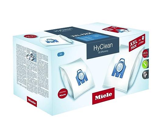 Miele GN HyClean 3D, Bolsas para aspiradora, XXL, pack de 16 +8 filtros