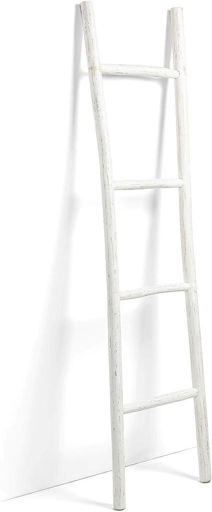 Kave Home Marge - Escalera Decorativa, Color Blanco: Amazon.es: Hogar