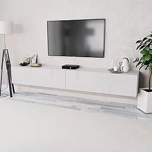 Tidyard 2xMesas para TV Mueble TV Salón Mesa Televisión Mueble ...