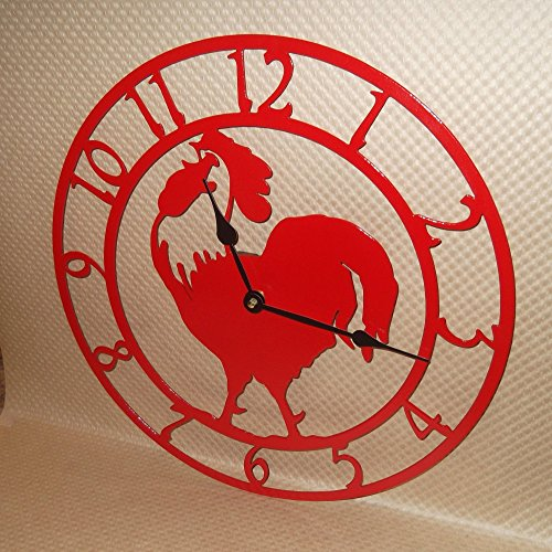 rustic chicken clock - 1