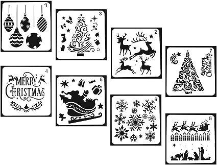DREAMS Stencil Christmas Eve Box Decoration Crate Stencil Card Template