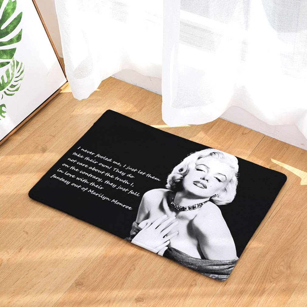 Baisheng Tappetini Antiscivolo diretti Zerbino Marilyn Monroe 1-15.7 * 23.6inch //40 * 60cm Tappetino Antiscivolo per Interni Antiscivolo Lavabile per Interni