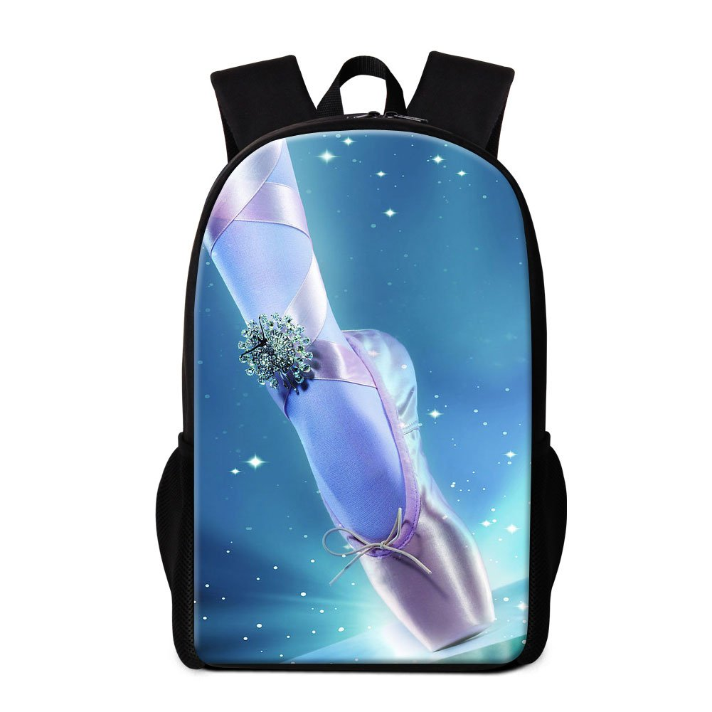 9b61adac84ee Dispalang Cute Ballet Girls Print Backpack for Children School Bookbag  Patterns Outdoor Back Pack