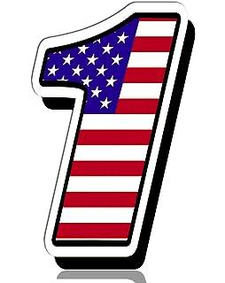 Biomar Labs® Número 1 Bandera Americana de Estados Unidos Nacional USA Calavera Vinilo Adhesivo Pegatina Coche Auto Motocross Moto Sport Start Racing Tuning N 301: Amazon.es: Coche y moto