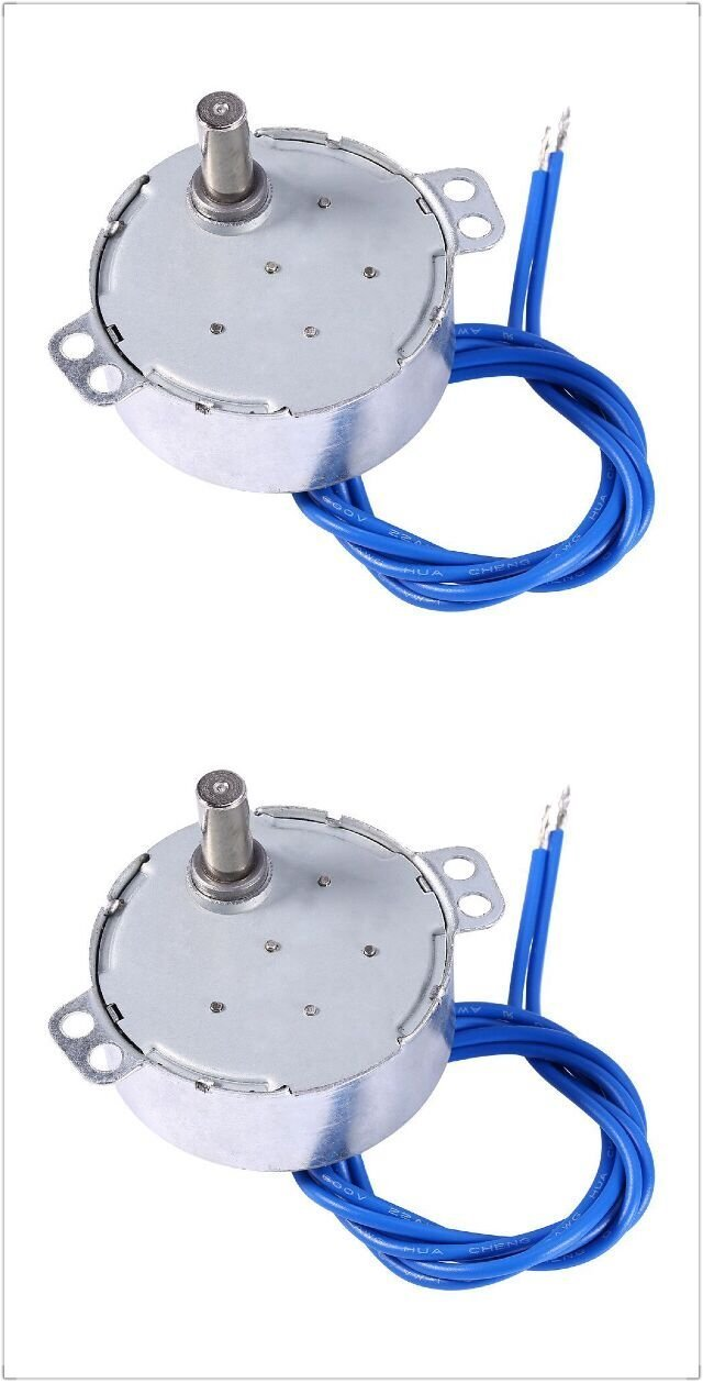 Synchronous Synchron Motor 50/60Hz AC 100~127V 4W 2.5-3RPM/MIN CCW/CW For Hand-Made, School Project, Model (2PCS)