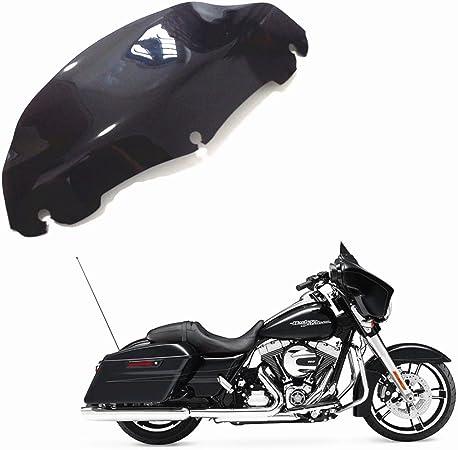 Schwarz 7 Zoll 17 8 Cm Wave Windschutzscheibe Windschutzscheibe Für 2014 2016 Harley Street Electra Glide Modelle 2014 2016 Harley Touring Electra Tri Flhx Auto