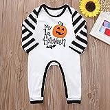 MOKO-PP Halloween Toddler Kid Baby Boys Letter Print Cartoon Romper Jumpsuit Clothes