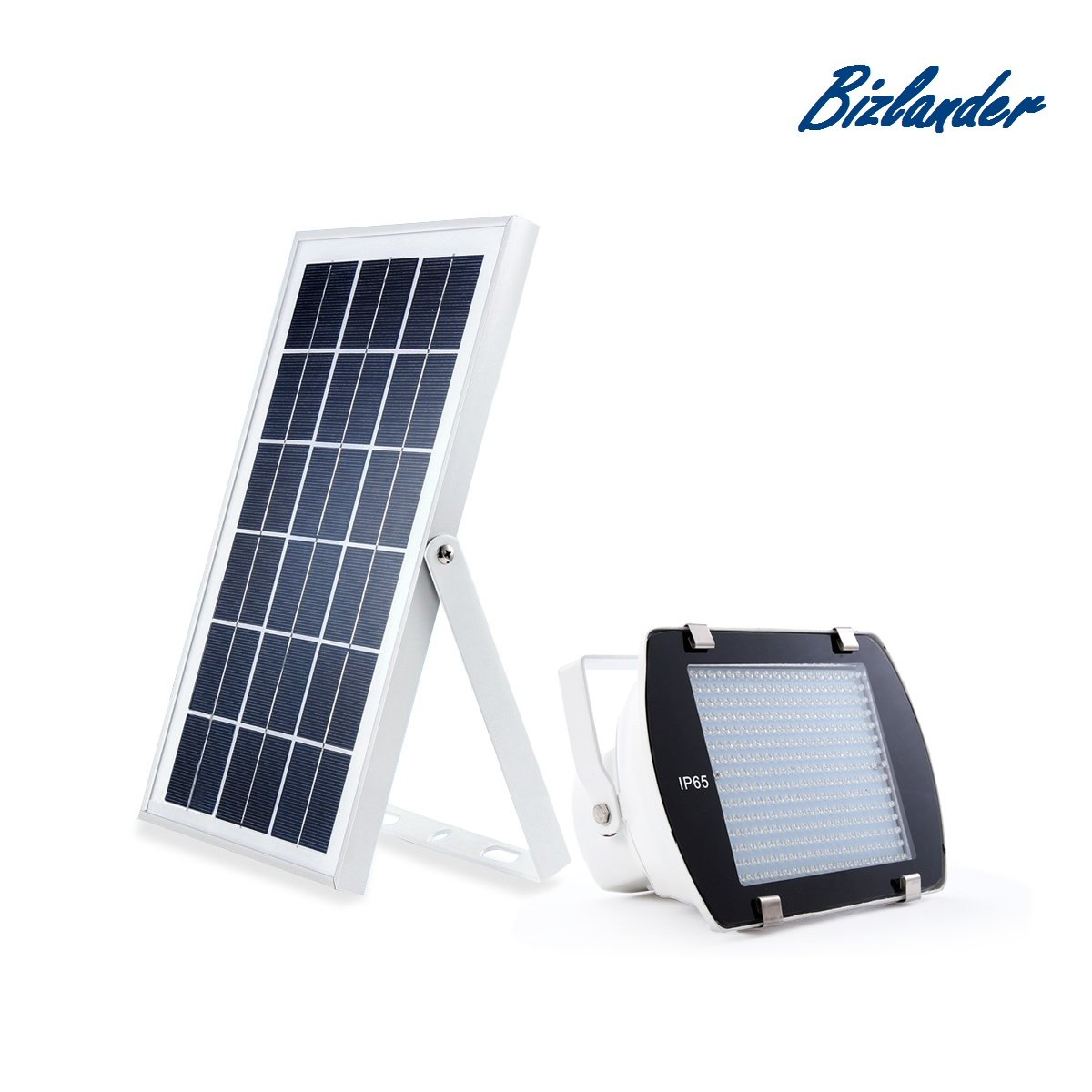 Bizlander Commercial outdoor Solar Light lamp 300 LED Portable with Lithium Battery easy Installation Dusk to Dawn for Security Storage shed porch spot Camping Lawn Barn light Signs Manual Switch