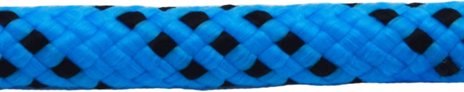 Strong Pulling Rope for Climbing Sailing Camping Swings 3//8 X 50 YUZENET Braid Polyester Arborist Rigging Rope Blue//Black