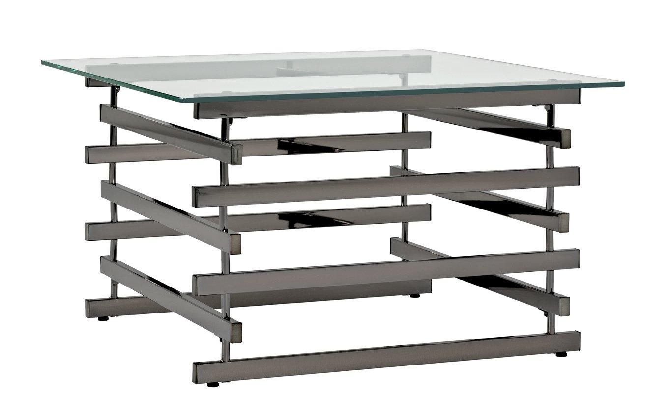 HAKU Furniture Coffee Table, Metal, Black Nickel, 50x70x45 cm