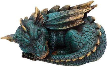 Nemesis Now Upon A Time Figurine Dragon Vert avec Livres en polyr/ésine 11 cm