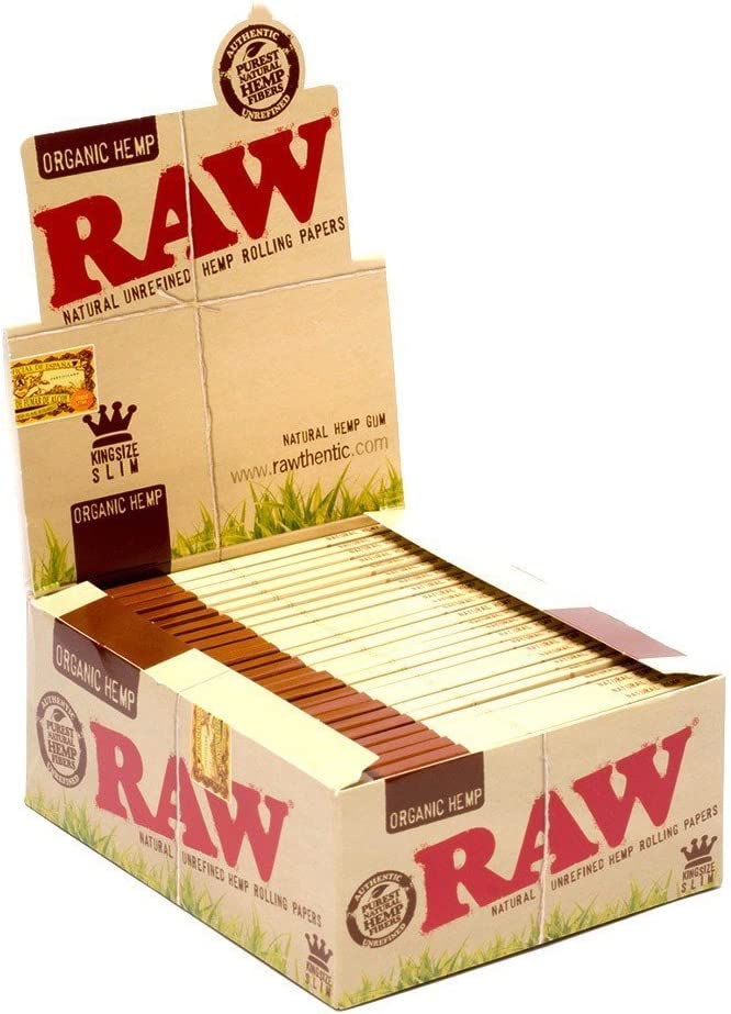 Raw Organic Natural Hemp - Lote de 50 Cuadernos para Cigarrillos, tamaño King