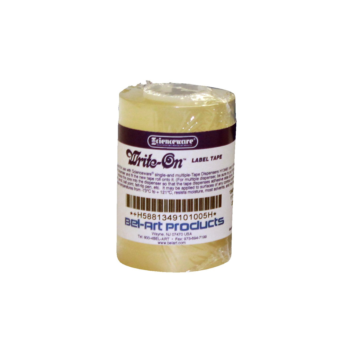 Bel-Art Clear Tape for Protective Labeling System; 36yd Length, 1 in. Width, 1 in. Core (Pack of 3) (F13491-0100) by SP Scienceware