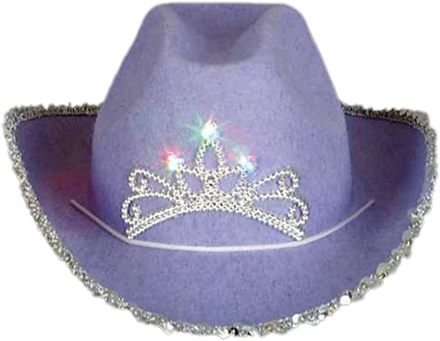 a198f39a8f634 Amazon.com  Blinking Pink Tiara Cowboy Hat (Child) (One Size