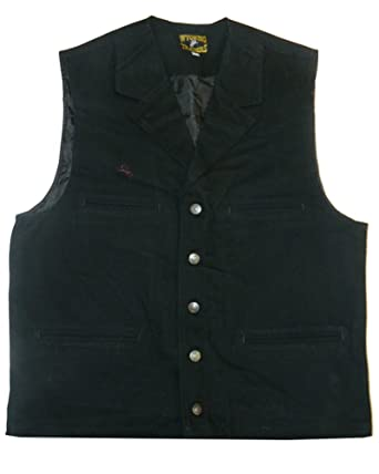 Men's wyoming traders cotton canvas bronco vest