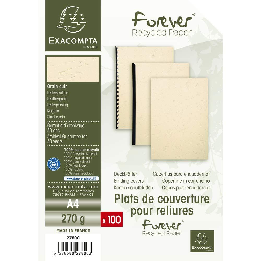 Exacompta EVERCOVER Pack de 100F pour A4 270 g//m/² Blanc