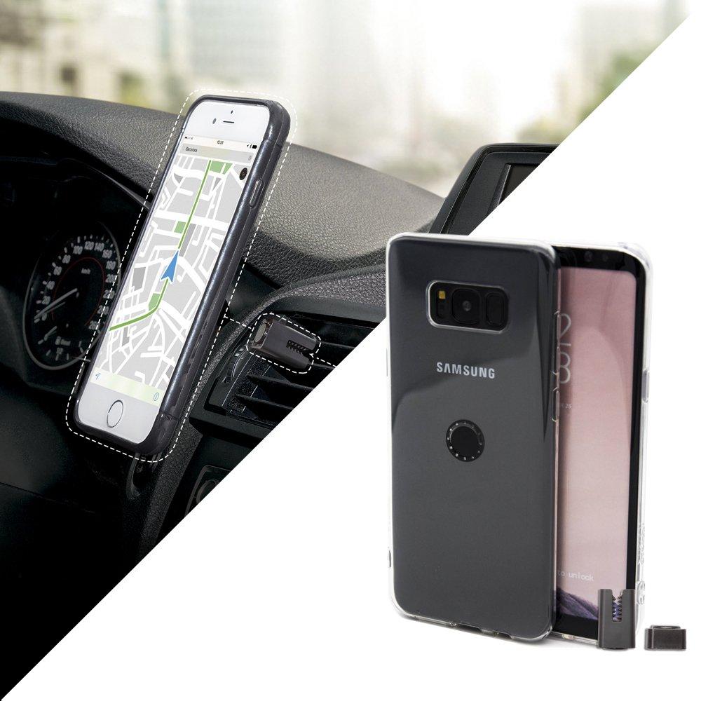 Funda con soporte magnético de coche para el smartphone Samsung...