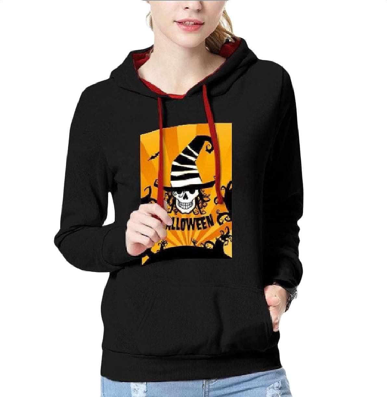 SportsX Womens Pockets Graphic Print Hoode Halloween Pullover Outwear