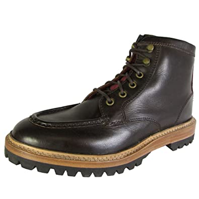 Cole Haan Mens Judson Moc Toe Boot Leather Boot Shoes, Java, US 4.5