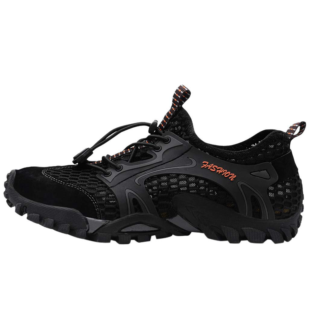 Haalife◕‿¿Men's Sandals Barefoot Hiking Shoes Quick Dry Breathable Mesh Lightweight Outdoor Training Water Walking Shoes Black