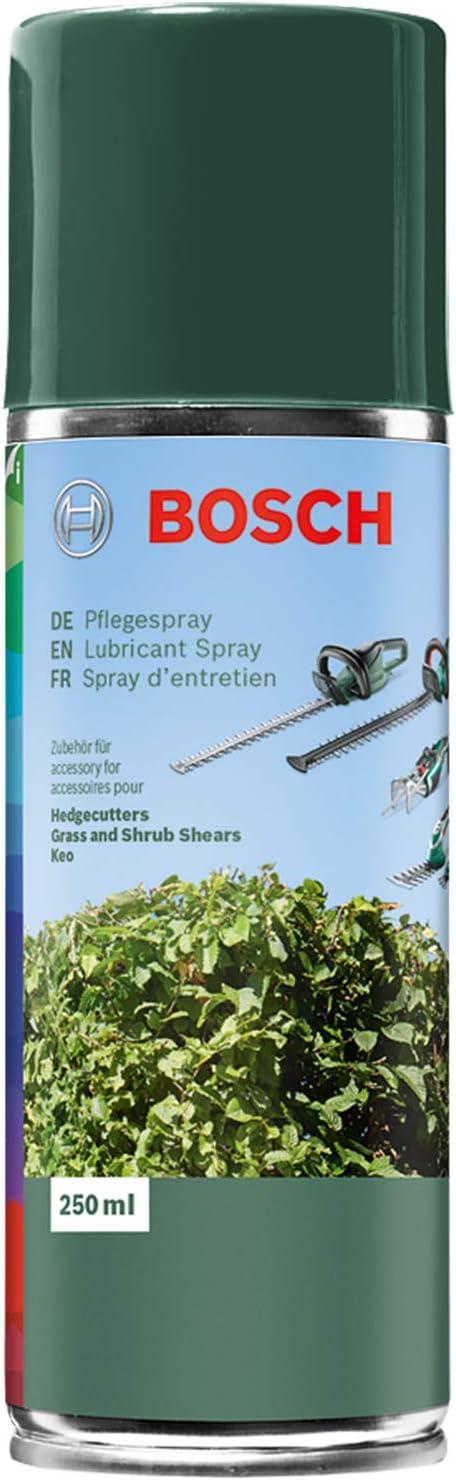 Bosch Lubricante en espray para cuchillas cortasetos, cuchillas cortacésped y arreglasetos, Keo – 250ml
