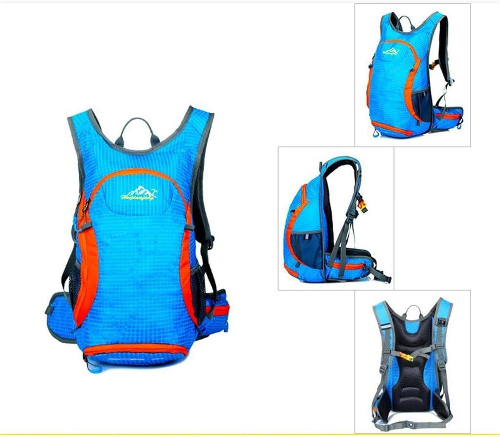 Color : Blue YONGMEI Outdoor Backpack Multi-Purpose Bike Travel Bag Riding Bag Men and Women Outdoor Backpack Waterproof Climbing Bag Backpack