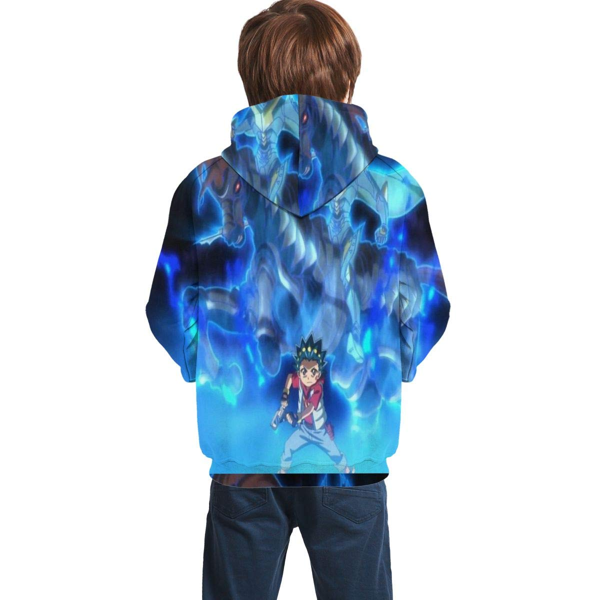 Childrens Hoodies Beybl-ade Bu-RST Evo-lution 3D Print Unisex Pullover Hooded Sweatshirts for Boys//Girls//Teen//Kids