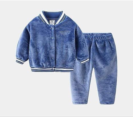 WEDFGX Pijamas de Franela cálidos de otoño e Invierno de REN ...