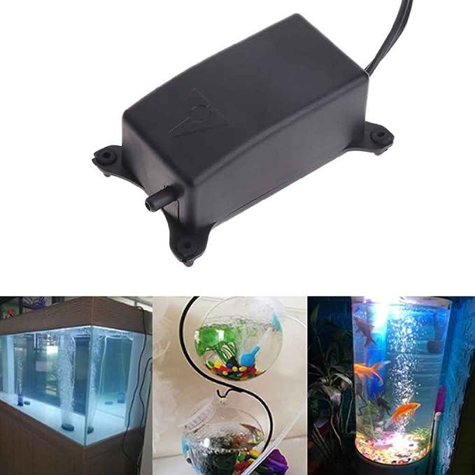 Kongnijiwa Mini Pescado Tanque de oxígeno del Aire silencioso de la Bomba Mini Acuario de oxígeno Quakeproof Oxigenador aireador: Amazon.es: Hogar