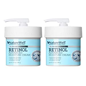 NatureWell Retinol Advanced Moisture Cream for Face & Body, 10 oz. | Clinical | Improves Firmness, Tone & Texture (2 Pack)