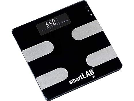 smartLAB fit Básculas para análisis del cuerpo digital | Grasa corporal Medición del equilibrio de peso, calorías, agua, masa muscular, hueso
